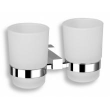 NOVASERVIS TITANIA ANET dvojitý držák kartáčků a pasty chrom/sklo 66357,0