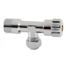 "NOVASERVIS rohový vřetenový ventil s matkou 3/8"" chrom CF3002/10MS"