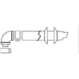 ARISTON Odkouření koaxiální s kolenem pro zásobníky 704760