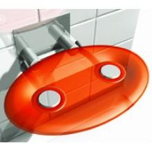 RAVAK OVO P ORANGE Sprchové sedátko, oranžové B8F0000005