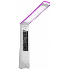PANLUX DAISY multifunkční stolní lampička s displejem, bílo/růžová PN15300001