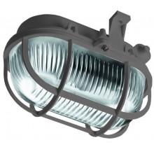 PANLUX OVAL přisazené nástěnné svítidlo 60W, šedá SOP-60/S