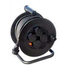 SOLIGHT Prodlužovací kabel 3x1,5mm buben 50m, 4x zásuvka, gumová, venkovní PB34