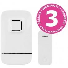 PANLUX PIEZO BELL bezdrátový bateriový zvonek s bezbateriovým tlačítkem, bílá PN75000005