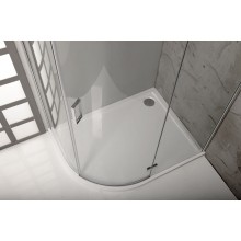 POLYSAN RENA L vanička z litého mramoru, čtvrtkruh 100x80x4cm, R550, levá