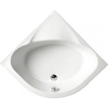 POLYSAN SELMA sprchová vanička čtvrtkruhová 90x90x30cm, R55, hluboká, bílá s podstavcem