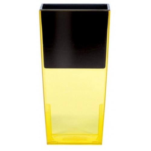 PROSPERPLAST URBI SQUARE P květináč 4l, žlutá DURS140P