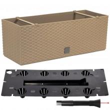 Prosperplast RATO CASE Truhlík +zavlažovací systém 51,4x19,2x18,6cm mocca DRTC500