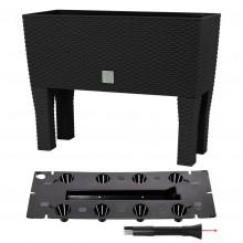 Prosperplast RATO CASE HIGH Truhlík+zavlažovací systém 60x25x46cm antracit DRTC600H