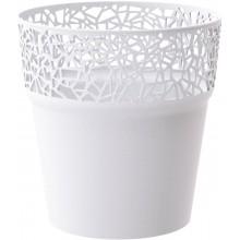 Prosperplast TREE květináč s krajkou 12 cm, bílá DTRE120