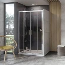 RAVAK 10° 10DP4 Sprchové dveře 140x190 cm, lesklý Alubright 0ZKM0C00Z11