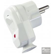 REGULUS VSV-W Vidlice uni schuko s vypínačem bílá, IP20, 16A/250V 11841