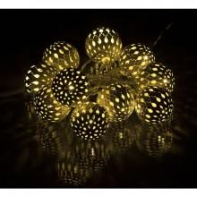 RETLUX RXL 50 10LED MET.BALLS WH WW 1,5M vánoční osvětlení koule, 50001799