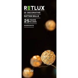 RETLUX RXL 22 20LED Rattan Balls WW 0,5M Vánoční osvětlení 50001456