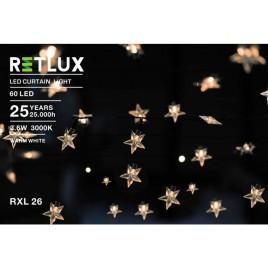 RETLUX RXL 26 60LED Curtain Light WW 5M Vánoční osvětlení 50001458