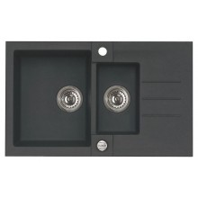 ALVEUS ROCK 70 granitový kuchyňský dřez 780x480 mm, černá