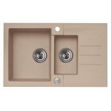 ALVEUS ROCK 70 granitový kuchyňský dřez 780x480 mm, béžová