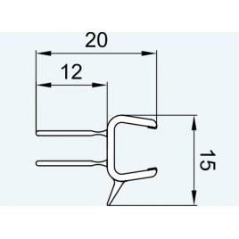 RONAL vodorovné těsnění na 8 mm skla 1m 52102