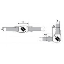 VITRA LINE sada dvou magnetických těsnění na 6mm sklo délka 2000mm