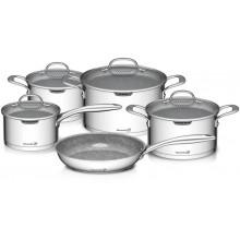 Sada nádobí G21 Gourmet Miracle s cedníkem, 9 dílů, nerez/greblon 60022154