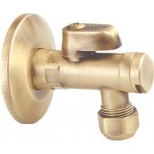 """SAPHO Rohový ventil s matkou, 1/2""""x 3/8"""", bronz 2020BRO"""
