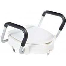 SAPHO SENIOR WC sedátko zvýšené 10cm, s madly, bílá A0072001