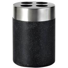 SAPHO STONE držák kartáčků na postavení, černá