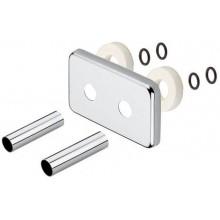 SAPHO Krycí rozeta obdélníková k připojovací sadě ONE, chrom CP8035