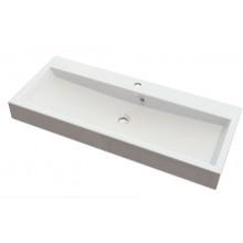 SAPHO ORINOKO umyvadlo 100x42cm, litý mramor, bílá OR100