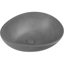 PUNC Betonové umyvadlo včetně výpusti, 53x39cm, černý granit BH7001