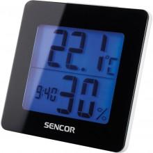 SENCOR SWS 1500 B teploměr s hodinami a budíkem černý 35049710