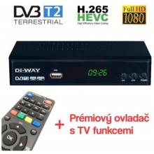 DI-WAY PRO2020 set-top-box FullHD s HEVC H.265 DVB-T2, USB přijímač J4722U22