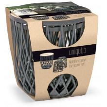 Prosperplast UNIQUBO Set univerzálních košů 2+1 šedý kámen IKUB35