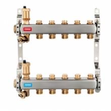 NOVASERVIS Nerez. rozdělovač s regulačními mechanickými ventily, 4okruhy SN-ROU04S