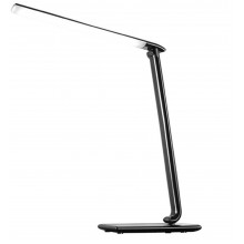 SOLIGHT LED stolní lampička stmívatelná, 12W, volba teploty světla, USB, černý lesk WO37-B