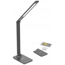 SOLIGHT LED stmívatelná lampička s bezdrátovým nabíjením, změna chromatičnosti, šedá WO55-G