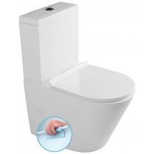 SAPHO PACO RIMLESS WC kombi mísa s nádržkou, Soft Close sedátko, PC1012R