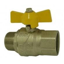 """Plynový kulový kohout 3/4"""", MF 3100M, motýl, MOP5, 03100340"""