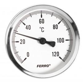 "NOVASERVIS Teploměr 63mm 1/2"" axiální 0 - 120°C T63120A"