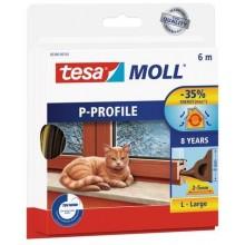 TESA MOLL Gumové těsnění, hnědé, na okna a dveře, P profil, 6m 05390-00103-00