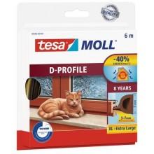 TESA MOLL Gumové těsnění, hnědé, na okna a dveře, D profil, 6m 05393-00103-00