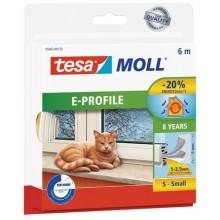 TESA MOLL Gumové těsnění, bílé, na okna a dveře, E profil, 6m 05463-00122-00