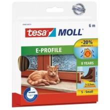 TESA MOLL Gumové těsnění, hnědé, na okna a dveře, E profil, 6m 05463-00123-00
