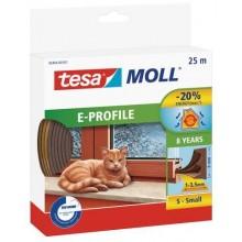 TESA MOLL Gumové těsnění, hnědé, na okna a dveře, E profil, 25m 05464-00103-00