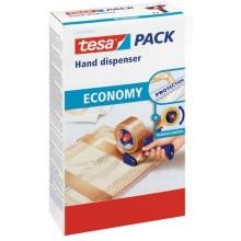 TESA Ruční odvíječ balící pásky, červeno-modrý, pro rozměr 66m x 50mm 06300-00001-00