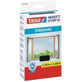 TESA Síť proti hmyzu STANDARD, na okno, antracitová, 1,5m x 1,8m 55680-00001-02