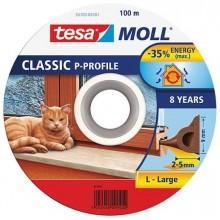 TESA MOLL Gumové těsnění, hnědé, na okna a dveře, P profil, buben 100m 55703-00101-00