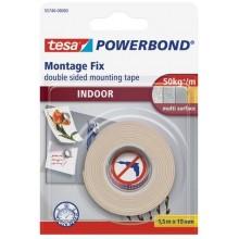 TESA Powerbond Montážní oboustranná pěnová páska pro interiér, bílá, 1,5m x 19mm 55740-00003-02