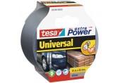 TESAOpravná páska Extra Power Universal, textilní, silně lepivá, stříbrná, 10m x 50mm 56348-00000-06