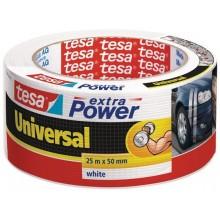 TESAOpravná páska Extra Power Universal, textilní, silně lepivá, bílá, 25m x 50mm